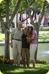 Grandad, Grandma, Mommy, & Me.